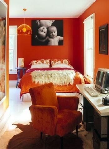 halloween bedroom interior