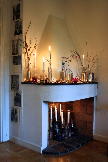 learning to love white_holiday Mantel_christmas decor_DIY painted glass_interior design blog