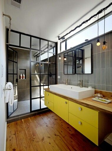 Industrial Windows | Learning to Love White | Bathroom Windows