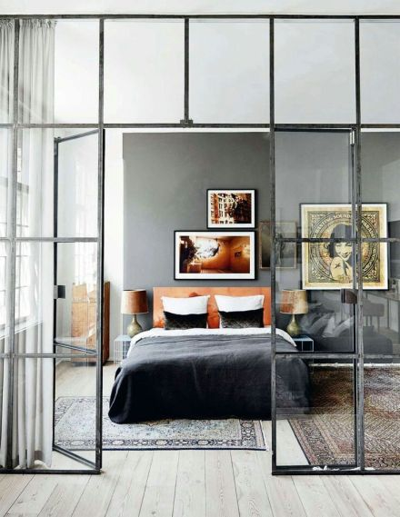 Industrial Windows | Learning to Love White | Industrial Windows in the Bedroom