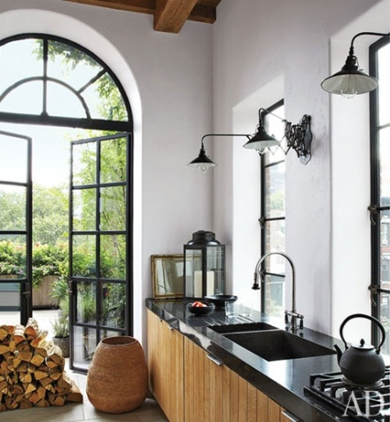 Industrial Windows | Learning to Love White | Kitchen design