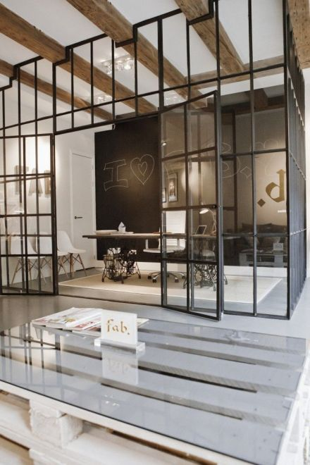 Industrial Windows | Learning to Love White | Office Design