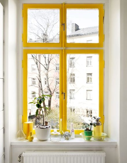 Industrial Windows | Learning to Love White | Painted Window Frames